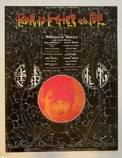 Iron Butterfly Concert Poster 1970 Fillmore Alton Kelley Signed