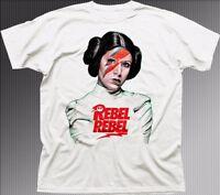 Princess Leia REBEL REBEL Star Wars inspired white cotton t-shirt FN9313
