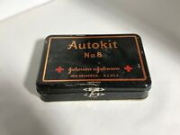 VINTAGE ANTIQUE JOHNSON & JOHNSON AUTOKIT MEDICAL FIRST AID KIT