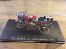 MAQUETTE MOTO GP HONDA RS 125 LORIS CAPIROSSI 1991 1/24 AVEC BOITIER COLLECTION