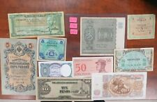 10 OLD Foreign Banknotes Mixed World Currency World Paper Money!! lot 262