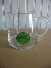 "DARTINGTON CRYSTAL GLASS PITCHER 4 1/2"" Mid century Modern Barware Fleur de lis"