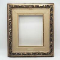 "Vintage 14-1/2""x16-1/2"" Painted Gold Ornate Picture Frame for 7-1/2""x9-1/2"""