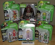 """World of Nintendo Legend of Zelda 4"""" Figures Link / Ganon / Misprint - LOT of 6"""
