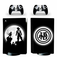 Dragon Ball Skin Sticker Decal Full Set for PS5 Console Controllers Disc Version