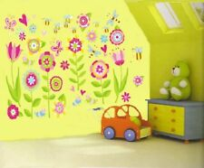 Childrens Kids Girls Bedroom Flower Butterfly Wall Stickers Decals Stickarounds