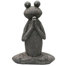 Svita Yoga Frosch Garten Figur Reiki Meditation Skulptur Deko Statue 60 cm groß