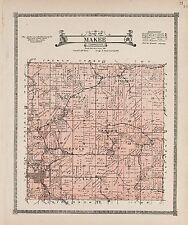 1917 Atlas Allamakee County Iowa plat map Genealogy history Dvd P149