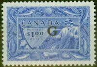Canada 1951 $1 Ultramarine SG0192 V.F LIghtly Mtd Mint