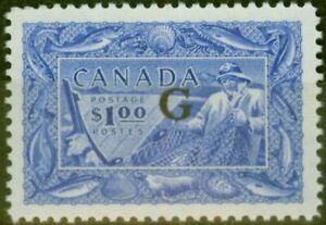 Canada 1951 $1 Ultramarine SG0192 V.F LIghtly Mtd Mint