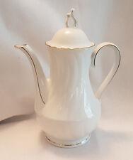Winterling Roslau Bavaria White Gilded Coffee Pot 26cm tall