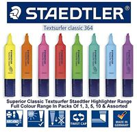 Staedtler Highlighter Pens Textsurfer Classic Fast Dry Copy Proof 8 Colour Range