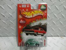 Hot Wheels Holiday Rods Green Volkswagen Bug w/Real Riders