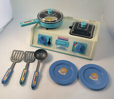 Little Angels Toy Cooking Center 1970/80's With Cookware Vintage
