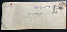 1949 Manila Philippines Red Cross Official Cover to Washington DC USA