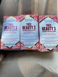 Reserveage Nutrition Tres Beauty 3 - 90 ct bottle x3 = 270 total Exp.7/21