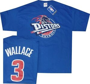 Detroit Pistons Ben Wallace #3 Majestic Throwback Shirt MENS XL New tags