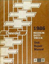 1986 chevy c50 c60 c70 engine and transmission rebuild shop manual medium  truck (fits: chevrolet c70)