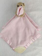 Disney CLASSIC Winnie The POOH Bear Plush Pink Teether Lovey Security Blanket