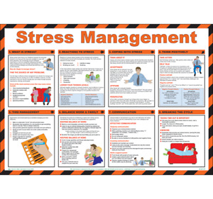 Stress Management Laminated Poster 590mm x 420mm (P307)