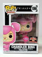 Funko Pop TV Friends CHANDLER BING as Pink Bunny FLOCKED 1066 Exclusive NEW