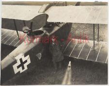 Q895 Foto WK1 KB Flieger Abt.290 Flugzeug Pilot Frankreich Jasta 1918 Treffer !!