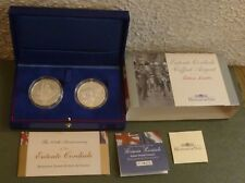Entente cordiale 2004 Royal Comme neuf 2-Coin Set Argent Preuve £ 5 & French 1.5 EURO