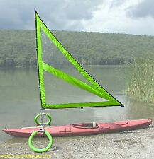 Harmony Upwind Kayak Sail and Canoe Sail Kit with Outriggers (Green)