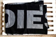 Genuine DIESEL Black Grey Banner Scarf 29 x 160cm NEW Tags