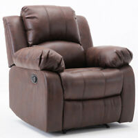 Leather Recliner Chair Single Sofa Overstuffed Lounge Couch Seat Home Furniture