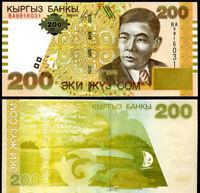 KYRGYZSTAN 200 SOM 2004 P 22 UNC