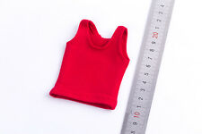 1/6 Scale Female Red Short Vest Girl Sleeveless Short Shirt F Big Breast Figure