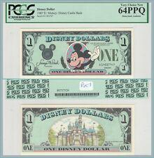 1987 $1 Disney Dollar PCGS 64 PPQ Unc New Mickey Mouse Walt World Castle Novelty