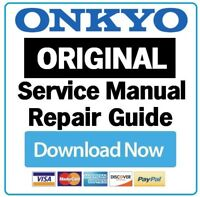 Onkyo TX RZ710 A/V Receiver Service Manual and Repair Guide