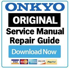 Onkyo HT-R397 A/V Receiver Service Manual and Repair Guide