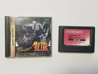 Sega Saturn Metal Slug with RAM Japan import SS game US Seller