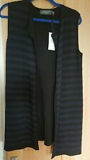 COERCION LONG BLACK LADIES SIZE S WAISTCOAT NEW WITH TAGS