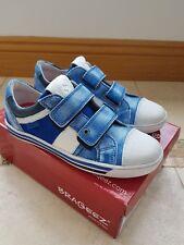 Braqeez Boys Trainers Sneakers Blue (Cobalt) EU 34 UK 2 bnib