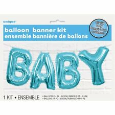 "14"" Boy's Baby Shower Party Blue Foil Balloon Banner Decoration Kit Party"