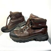 Men's VASQUE Summit GORE-TEX 7152 Leather Brown Lace-Up Hiking Boots Size 9.5