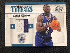 2010-11 Season Update Throwback Threads LARRY JOHNSON Hornets Jersey Patch /299