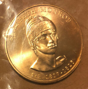 1817-1825 -5th First Spouse ELIZABETH MONROE Bronze UNCIRCULATED Medal(Sealed)