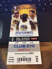 2016 GOLDEN STATE WARRIORS V CLEVELAND CAVALIERS NBA FINALS GAME #5 TICKET STUB