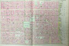 ORIG 1895 PHILADELPHIA HOSPITAL PA INDEPENDENCE & WASHINGTON SQUARE ATLAS MAP