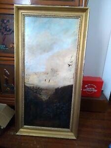Chris Pfister dark landscape contemporary Painting on Board 1988