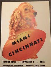 "ORANGE BOWL MIAMI VS  CINCINNATI Posters 11x14"" Reproduction Of Vintage Poster"