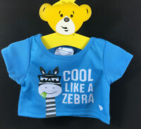 Build a Bear T-Shirt Cool Like a Zebra *NEW* with Tags Teddy Clothes Outfit A26