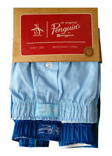 ORIGINAL PENGUIN Two Pack Blue Boxer Shorts Size Large BNIP