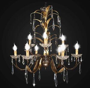 Chandelier Classic Wrought Iron Design Op 9 Lights Bga 1754-9