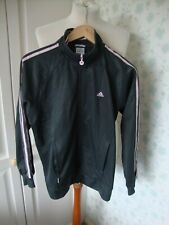 LADIES WOMANS CLIMA 365 LONG SLEEVED TRACKSUIT TOP SIZE 12 GREEN PINK TRIM